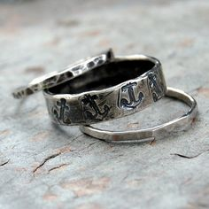 Sterling Silver Rings with anchors