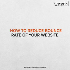 A high bounce rate is often a clear signal that your website's landing pages don't meet the expectations of your visitors. These steps will help you to reduce the bounce rate of your website. . #qwertybrandsolutions #searchengineranking #seotricks #seoexperts #brandinghelp #brandingadvice #smallbusinessmarketing #organicreach #writersociety #contentcreators #contentcreation #sensitivecontent #copywriter #contentwriting #igwrites #writingofinstagram #writingofig #writingdesk… Top Digital Marketing Companies, Small Business Marketing, Online Marketing, Bounce Rate, Seo Agency, Copywriter, Web Development, Landing, Things That Bounce