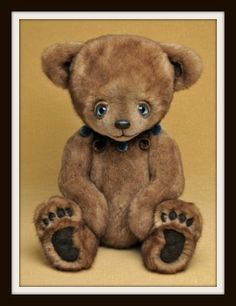 Colin, teddy bear by Cheryl Hutchinson