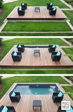 The Rolling-Deck Piscinelle is a swimming pool shelter that allows to quickly and aesthetically secure a pool. The Rolling-Deck Piscinelle is a swimming pool shelter that allows to quickly and aesthetically secure a pool. Small Swimming Pools, Small Backyard Pools, Backyard Pool Designs, Small Pools, Swimming Pools Backyard, Swimming Pool Designs, Pool Landscaping, Backyard Patio, Outdoor Pool
