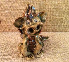 Baby dragon dragon ornament ceramic green dragon. by Sallyamoss