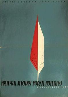 By Zbigniew Kaja, 1 9 5 4, Yung Polish Poetry Festival, Festiwal Młodej Poezji Polskiej, Festival poster.