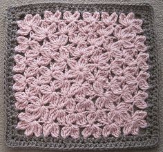 Pink Petals Square. I love the stitch AND the colors. By Judith