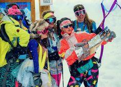 The Egg: 80's ladies ski ballet.