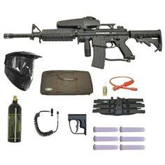 TIPPMANN A-5 A5 Paintball Gun Marker M4 Sniper Set - 5. Available at UltimatePaintball.com