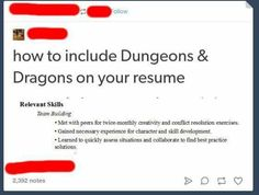 How to include dnd on your resume team building skills