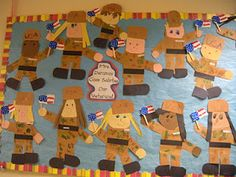 veteran's day craft....great for red white and blue unit