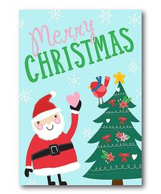 Look what I found on #zulily! Merry Christmas Santa Wrapped Canvas #zulilyfinds