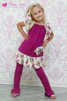MacKenzies ruffle Knit Top and Dress PDF Pattern size 6-12 months to size 8. $10.00, via Etsy.