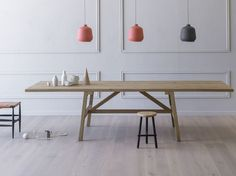 Rectangular dining table FRATTINO by Miniforms design Paolo Cappello