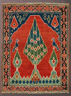 Caucasian Prayer rug, 3rd quarter 19th century.