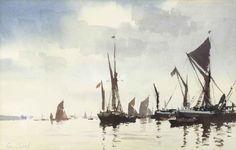 Edward Seago | Thames Barges