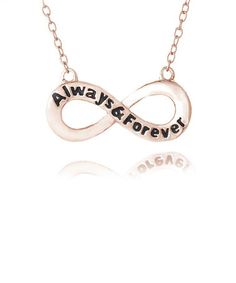 Take a look at this Rose Gold 'Always & Forever' Infinity Pendant Necklace by Designs by FMC on #zulily today!
