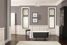 Sherwin-Williams introduces Poised Taupe, the company's 2017 Color of the Year. Poised Taupe pairs perfectly with shades of cream, white, and pearl. Sherwin Williams Paint Colors, 2017 Paint Color Trends, Top Paint Colors, Home, Home Decor Trends, White Interior, Trending Decor, Interior Design, Trending Paint Colors