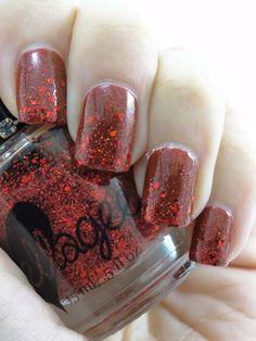 Sparkling gemstone-crushed ruby