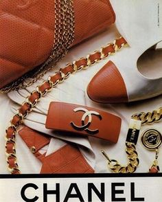 1988 @chanelofficial ad featuring one of Fall 2016's top @pantone colors, Potter's Clay. #trends #couture #fashion #chanel #glam #style #vintage #ads #accessories #color #shoes #1988 #jewelry #80s #inspiration #pantone #fall2016 #fall #pottersclay #Pinterest #throwback #handbag #luxury Lanvin, Givenchy, Vintage Chanel, Vintage Couture, Beverly Hills, Cartier, Mademoiselle Coco Chanel, Fendi, Yves Saint Laurent