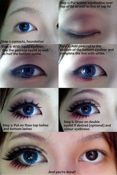 Cosplay eye makeup tutorial ~ Only Fashion