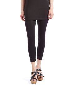 Love this Black Capri Leggings on #zulily! #zulilyfinds
