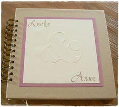 Kreatives aus Papier Stampin Up Gästebuch Hochzeit