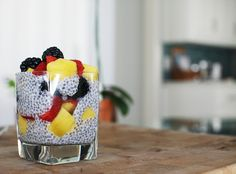 neato! bonito: EAT: chia seed pudding with coconut milk and fresh fruit