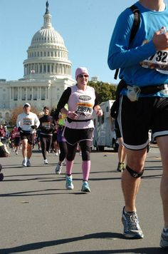 Running in the Susan G. Komen Marathon for the Cure in Washington, D.C. (October 30, 2011)