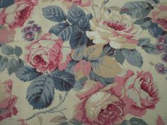 """SANDERSON CRAFT FABRIC REMNANT """"CHELSEA"""" LINEN UNION 200 X 145 CM in Crafts, Sewing & Fabric, Fabric 