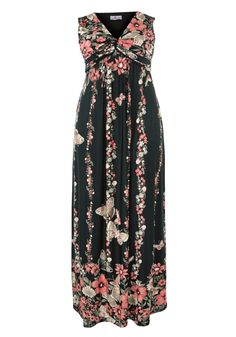 Praslin Maxikleid  Praslin Maxi dress flower & butterflys  | Übergröße - XXL-Mode - Plus Size - Große Größen - Molly