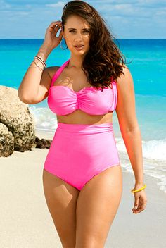 Fatkini- This is a new cut of two piece suit that is plus friendly alternative to a one piece.