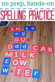 Practice spelling without fancy worksheets or stress.