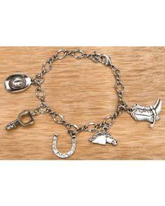 M&F Western Products® Silver Western Charm Bracelet