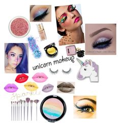 """🦄Unicorn makeup🦄"" by dancesing7 ❤ liked on Polyvore featuring beauty, In Your Dreams, FOSSIL, Unicorn Lashes, Lime Crime, Victoria's Secret and Elizabeth Arden"