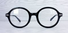 Vintage style Black Windsor Round Eyeglasses by Antiqueelse