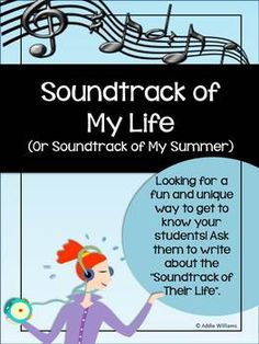 Back To School Activity - Soundtrack of My Life Back To School Activities, Music Activities, Classroom Activities, Music Classroom, School Classroom, Teaching Music, Teaching Resources, Teaching Ideas, Middle School Music