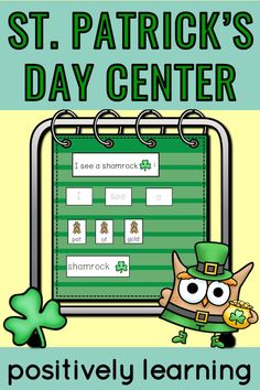 Lucky students will build St.Patrick's Day sentences with this shamrock themed center! There are visual supports included, plus five sets of sentence unscrambles! These centers can be used all March in the kindergarten and first grade classrooms. #stpatricksday #shamrockcenters