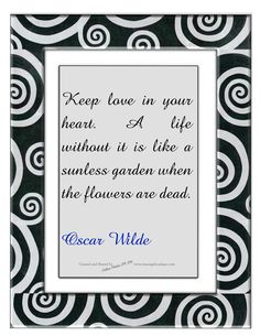 Wilde about love.