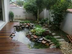 pond in a tiny yard!