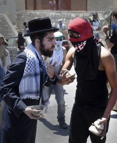When orthodox Jews joined with Palestinian youths throwing stones at Israeli police