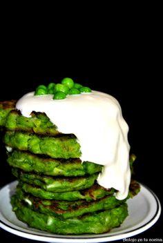 Tortitas de guisantes - Pea pancakes