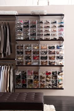 The Ultimate Display. Clear Store Shoe Drawers and Cubes. Available in small and large. Available from Howards Storage World.