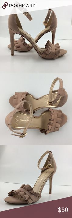 Jessica Simpson Silea Heel Leather Upper  Man Made Sole/Lining Made in Dominican Republic 4 in heel   Sku : S095 Jessica Simpson Shoes Heels