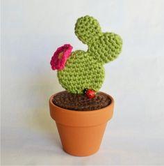 """Propósitos """"crafty"""" 2013. Aprender a hacer un cactus de amigurimi."""