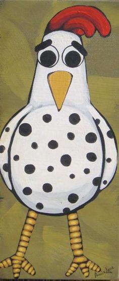 Image detail for -Yessy Home > Annie Lane > Annie Lane Folk Art > Funky Chicken