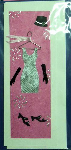 Hand cut, handmade card.