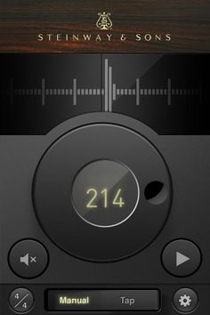 Steinway Musical Metronome - love the modern look and feel, the beauty and simplicity. #appdesign