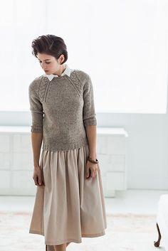 Coda by Olga Buraya-Kefelian knit in Brooklyn Tweed Shelter featured in Wool People Vol. 7