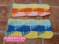 Trabajamos una puntada de medios puntos y escaleras | Blog a Crochet - ACrochet