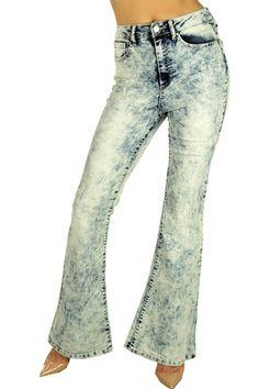 """""""Flower Child"""" Acid Wash Denim BellBottom Jeans! #UACollection #Flare"""