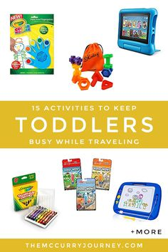 15 Plane and Car Activities for Toddlers - Traveling with a toddler can be enjoyable with these activities! Car Activities, Toddler Activities, Toddler Travel, Baby Travel, Flying With A Toddler, Travel Songs, Magnetic Drawing Board, Journey, First Pregnancy