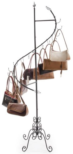 Spiral Purse Tree | Merchandise Rack with (15) Cascading Hooks