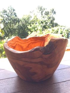 Rustic Olive wood round deep dish fruit bowl 26-30cm | Etsy Olive Boards, Olive Wood Bowl, Washer Machine, Wood Rounds, Wood Bowls, Deep Dish, Serving Dishes, New Kitchen, Home Decor
